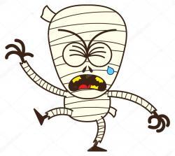 Mummy clipart sad
