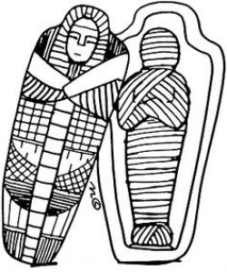 Mummy clipart sarcophagus