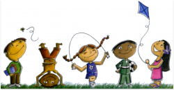 Mural clipart school playtime