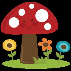 Digital clipart mushroom