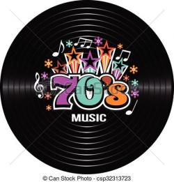 Music clipart 70's