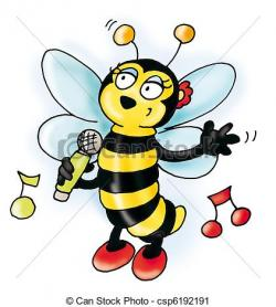 Music clipart bee