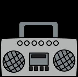 Music clipart boombox