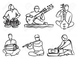 Instrument clipart indian classical music