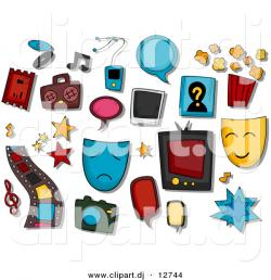 Collage clipart entertainment industry