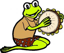 Music clipart frog