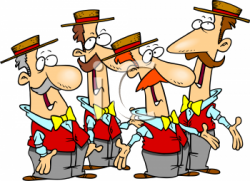 Musician clipart group singing