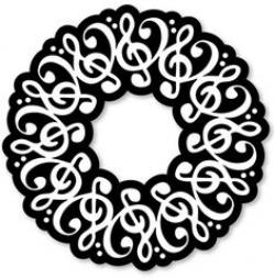 Music clipart wreath