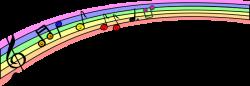 Music clipart rainbow