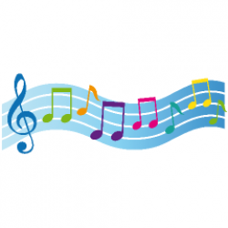 Music Notes clipart colorful music staff