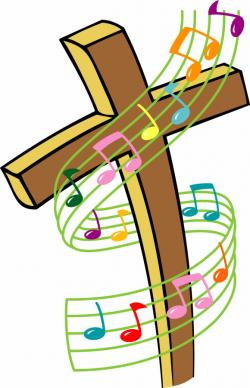 Music Notes clipart cross