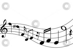Music Notes clipart curved