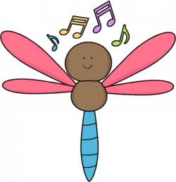 Cute clipart dragonfly