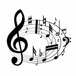 Music Notes clipart elegant