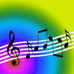 Music Notes clipart funky