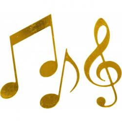 Music Notes clipart golden