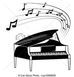 Sketch clipart piano
