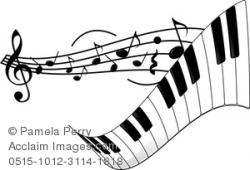 Sheet Music clipart piano