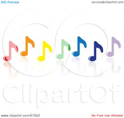 Music Notes clipart row