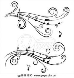 Music Notes clipart swirl