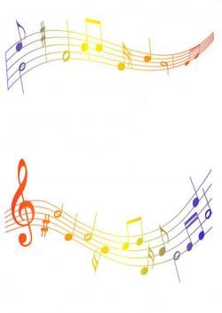 Musical clipart divider