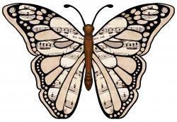 Music clipart butterfly