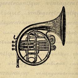 Brass clipart hear music