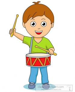 Boy clipart drum