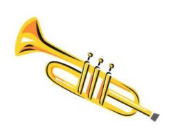 Brass clipart marching band instrument