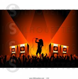 Singer clipart on stage