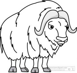 Ox clipart black and white