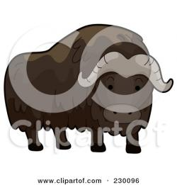 Muskox clipart animated