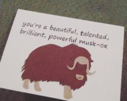 Muskox clipart red letter