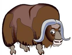 Muskox clipart the letter