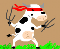 Mutant clipart cow