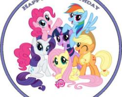 My Little Pony clipart cake