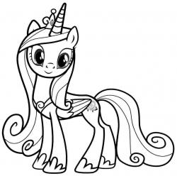 My Little Pony clipart colouring sheet