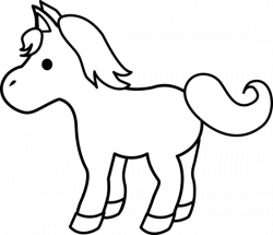 Foal clipart black and white