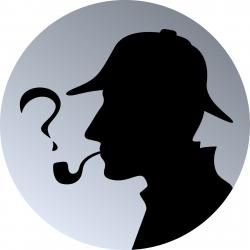 Sherlock Holmes clipart mystery person