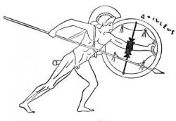 Achilles clipart black and white