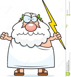 Zeus clipart angry