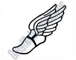Mythology clipart winged foot