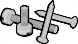 Screws clipart iron nail