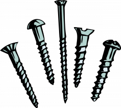 Screws clipart cartoon