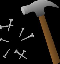 Screws clipart hammer nail