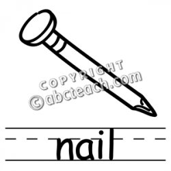 Nails clipart clipart black and white