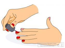 Poland clipart painted nail