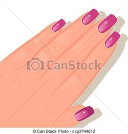 Poland clipart hand nail