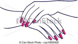 Nails clipart woman hand