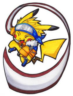 Naruto clipart pokemon character